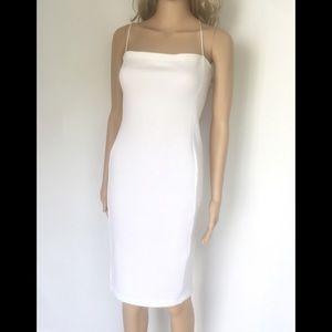 Narciso Rodríguez White Sleeveless Sheath Dress